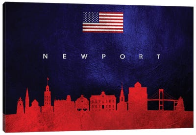Newport Rhode Island Skyline Canvas Art Print