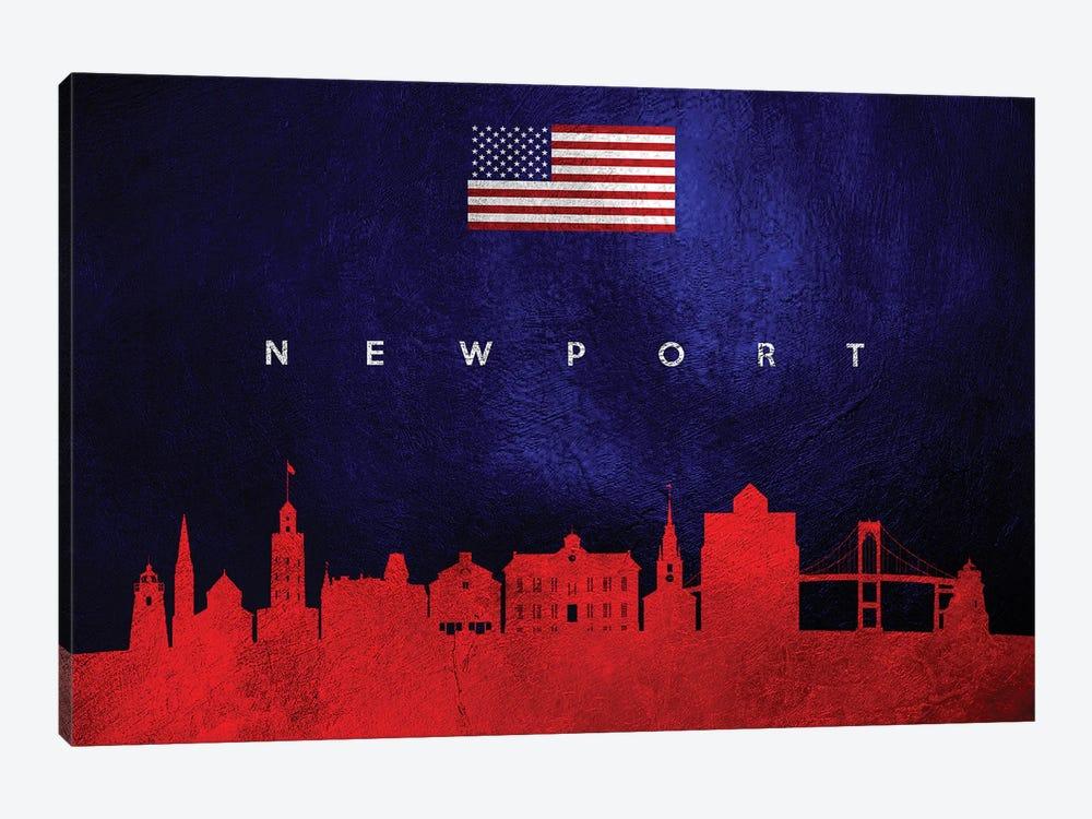 Newport Rhode Island Skyline by Adrian Baldovino 1-piece Canvas Artwork