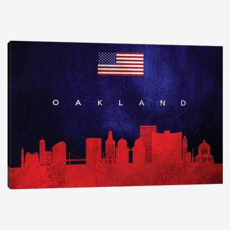 Oakland California Skyline Canvas Print #ABV455} by Adrian Baldovino Canvas Art Print