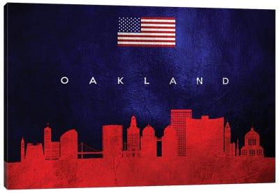 Oakland California Skyline Canvas Art Print