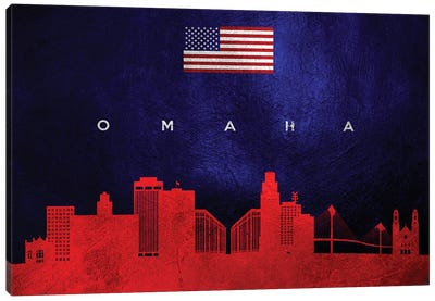 Omaha Nebraska Skyline Canvas Art Print