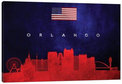 Orlando Florida Skyline Canvas Art Print