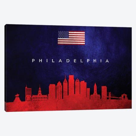 Philadelphia Pennsylvania Skyline Canvas Print #ABV459} by Adrian Baldovino Canvas Wall Art