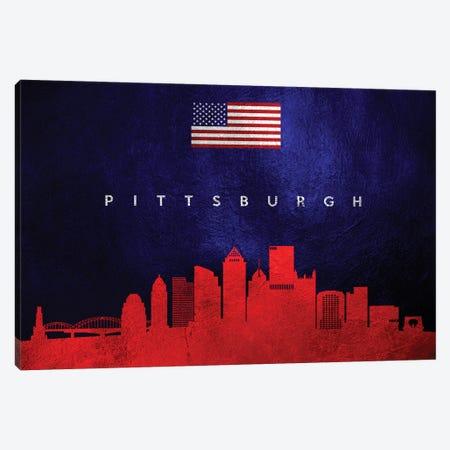 Pittsburgh Pennsylvania Skyline Canvas Print #ABV461} by Adrian Baldovino Canvas Art Print