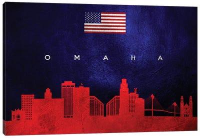Omaha Nebraska Skyline 2 Canvas Art Print