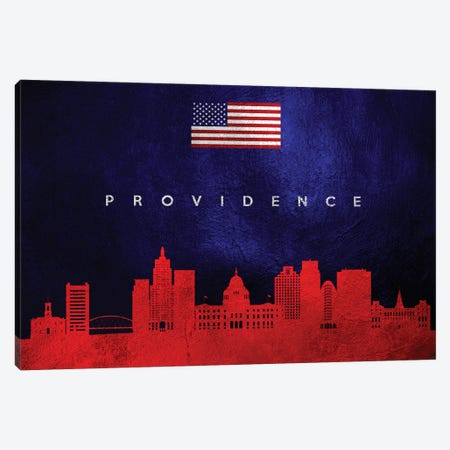 Providence Rhode Island Skyline Canvas Print #ABV463} by Adrian Baldovino Art Print