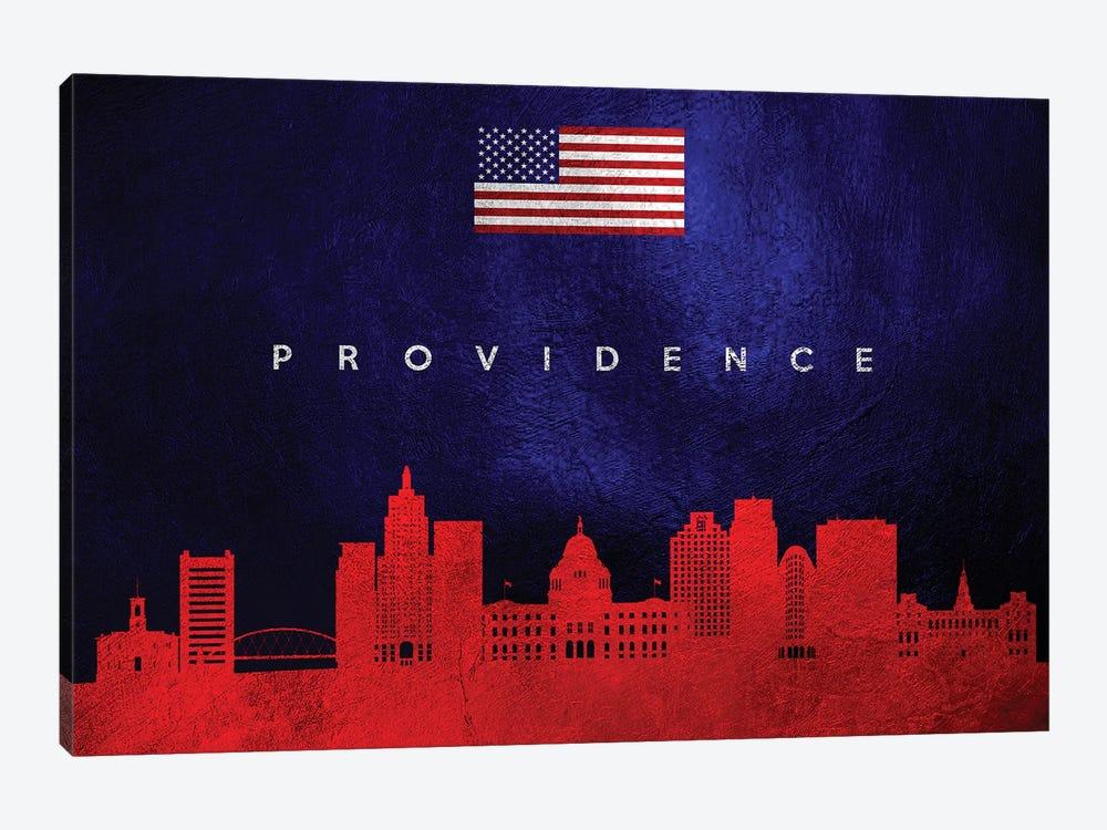 Providence Rhode Island Skyline by Adrian Baldovino 1-piece Canvas Wall Art