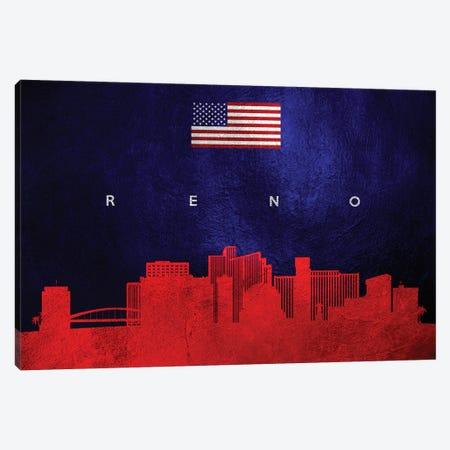 Reno Nevada Skyline Canvas Print #ABV466} by Adrian Baldovino Canvas Wall Art