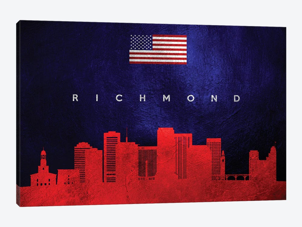 Richmond Virginia Skyline by Adrian Baldovino 1-piece Canvas Artwork