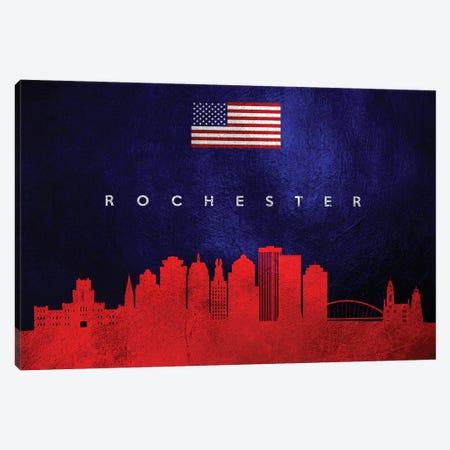 Rochester New York Skyline Canvas Print #ABV468} by Adrian Baldovino Art Print