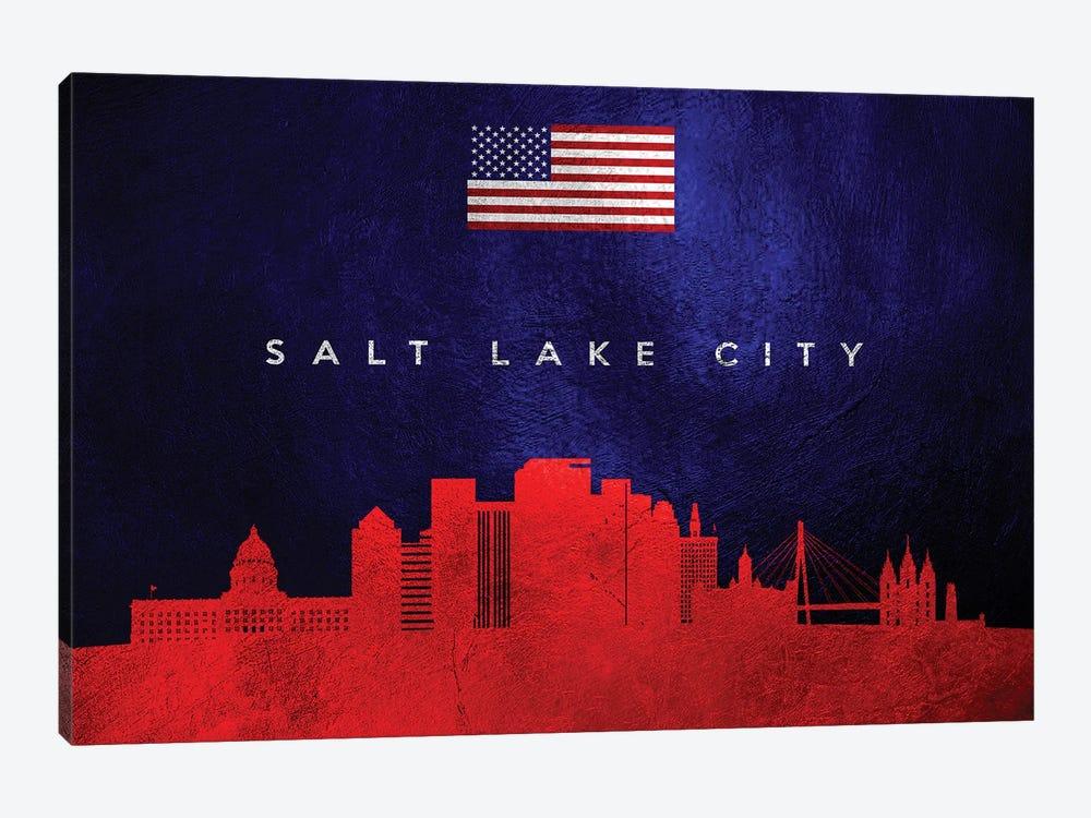 Salt Lake City Utah Skyline by Adrian Baldovino 1-piece Art Print