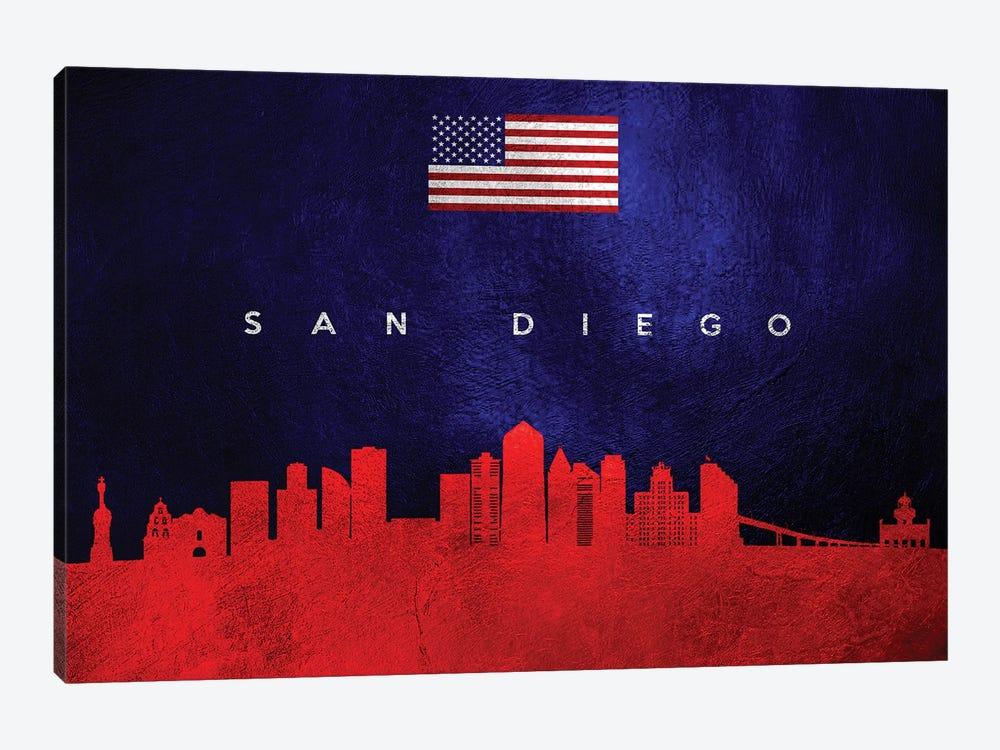 San Diego California Skyline by Adrian Baldovino 1-piece Canvas Print