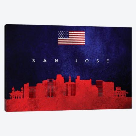 San Jose California Skyline Canvas Print #ABV474} by Adrian Baldovino Canvas Art Print