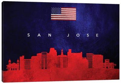 San Jose California Skyline Canvas Art Print
