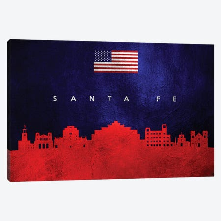 Santa Fe New Mexico Skyline Canvas Print #ABV475} by Adrian Baldovino Canvas Print