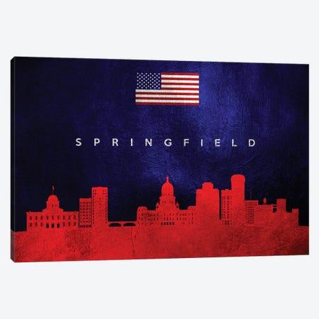 Springfield Illinois Skyline Canvas Print #ABV478} by Adrian Baldovino Canvas Wall Art