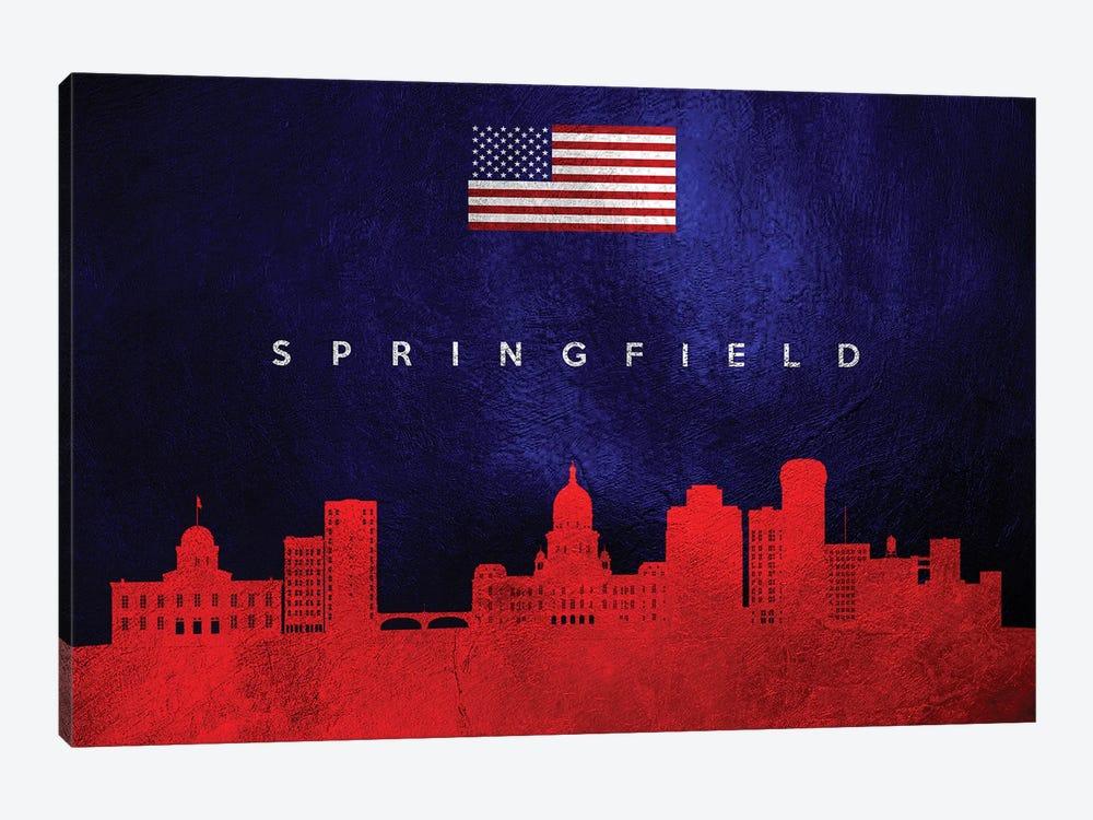 Springfield Illinois Skyline by Adrian Baldovino 1-piece Canvas Artwork