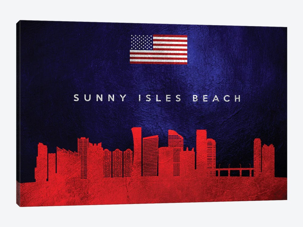 Sunny Isles Beach Florida Skyline by Adrian Baldovino 1-piece Canvas Art Print