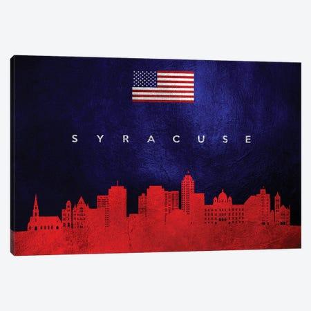 Syracuse New York Skyline Canvas Print #ABV480} by Adrian Baldovino Canvas Print