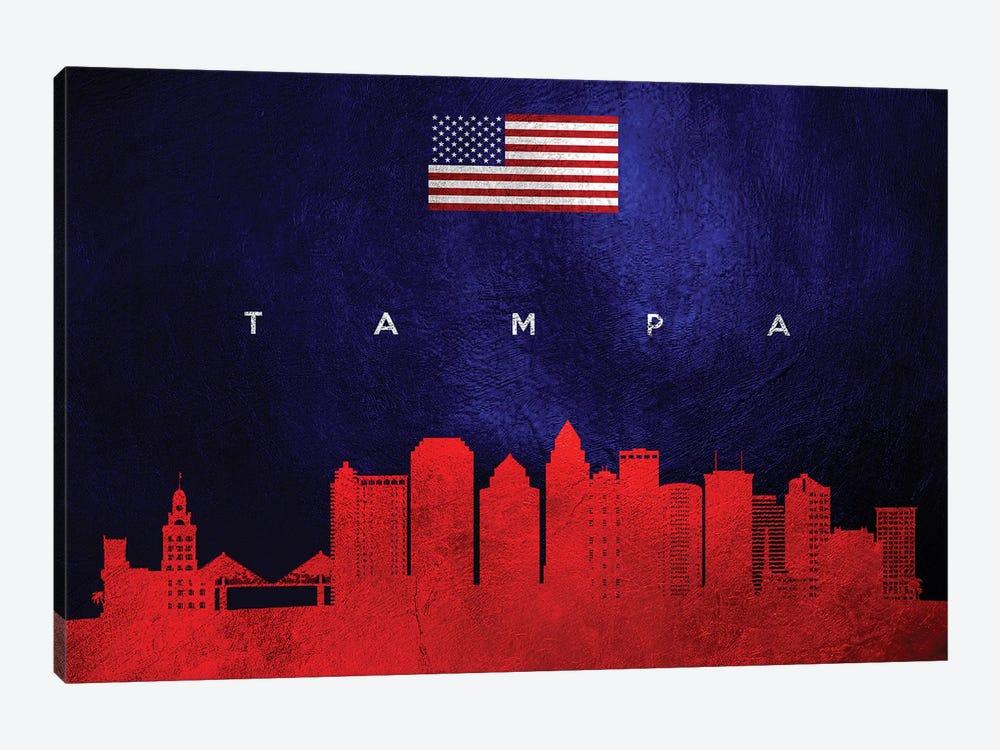 Tampa Florida Skyline by Adrian Baldovino 1-piece Canvas Art