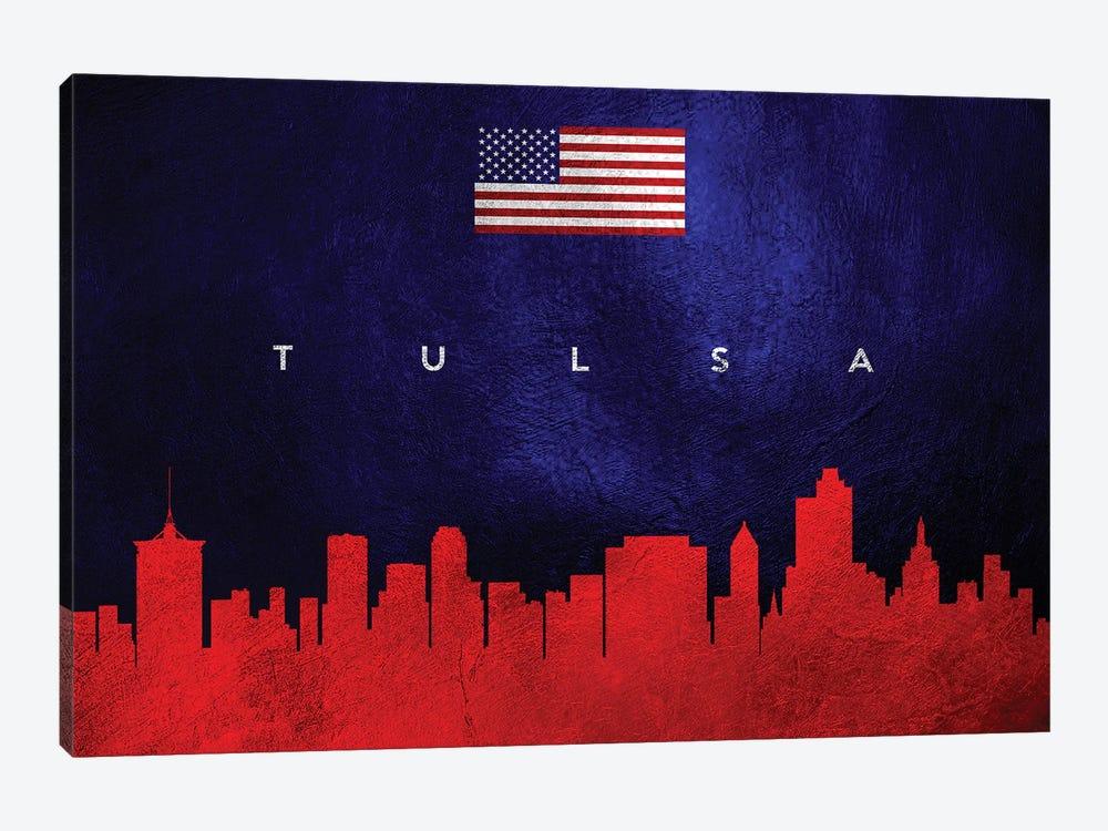 Tulsa Oklahoma Skyline by Adrian Baldovino 1-piece Canvas Print