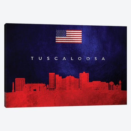 Tuscaloosa Alabama Skyline Canvas Print #ABV483} by Adrian Baldovino Canvas Art Print