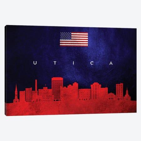 Utica New York Skyline Canvas Print #ABV485} by Adrian Baldovino Canvas Artwork