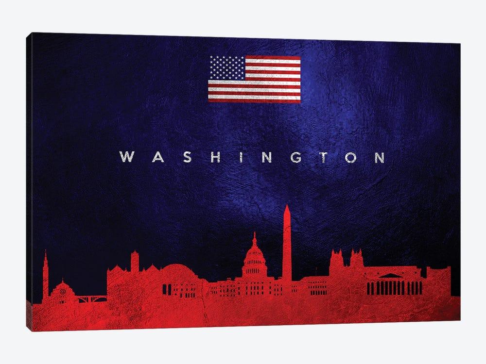 Washington Skyline by Adrian Baldovino 1-piece Canvas Print