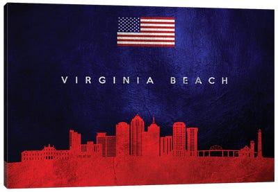 Virginia Beach Skyline 2 Canvas Art Print