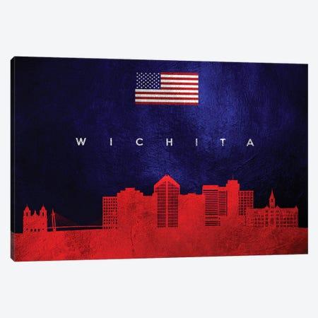 Wichita Kansas Skyline Canvas Print #ABV488} by Adrian Baldovino Canvas Print