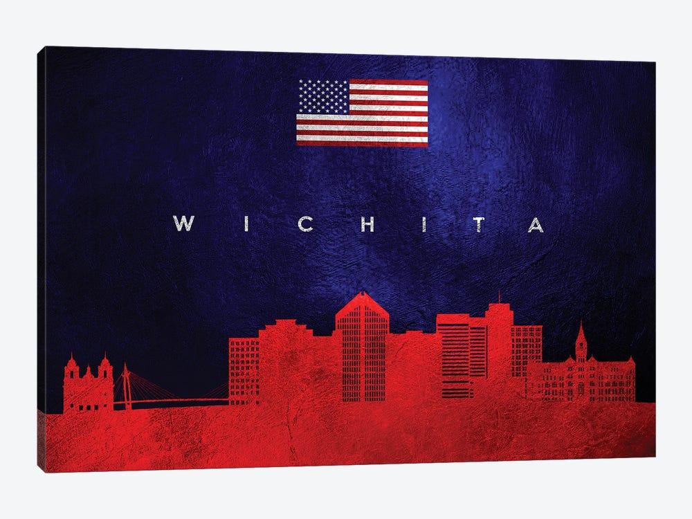 Wichita Kansas Skyline by Adrian Baldovino 1-piece Canvas Art Print