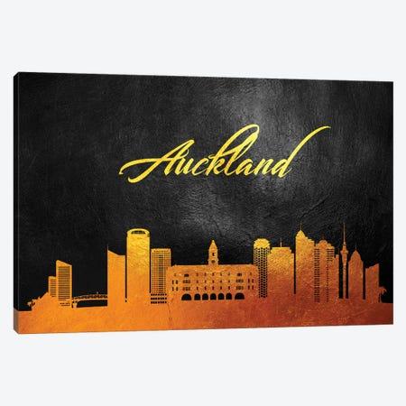 Auckland New Zealand Gold Skyline Canvas Print #ABV496} by Adrian Baldovino Canvas Print