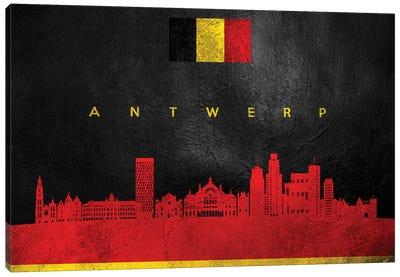 Antwerp Belgium Skyline Canvas Art Print