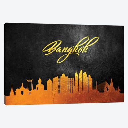 Bangkok Thailand Gold Skyline 2 Canvas Print #ABV502} by Adrian Baldovino Canvas Artwork