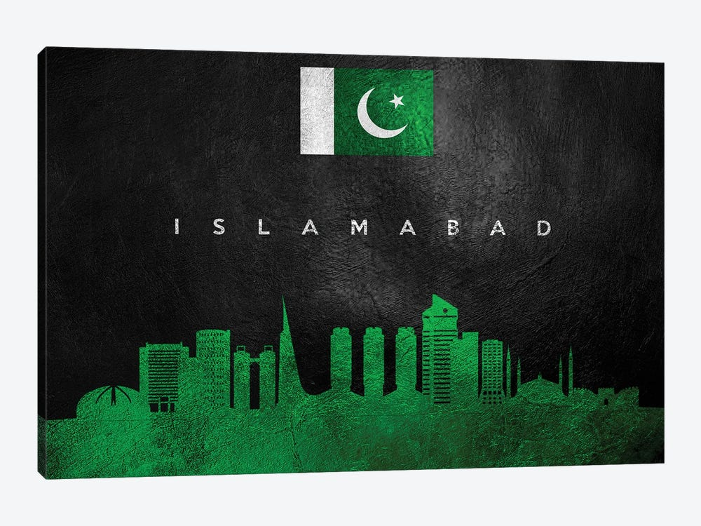 Islamabad Pakistan Skyline by Adrian Baldovino 1-piece Canvas Artwork
