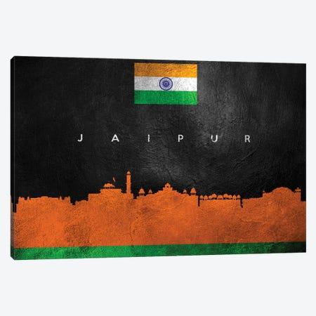 Jaipur India Skyline Canvas Print #ABV54} by Adrian Baldovino Canvas Wall Art
