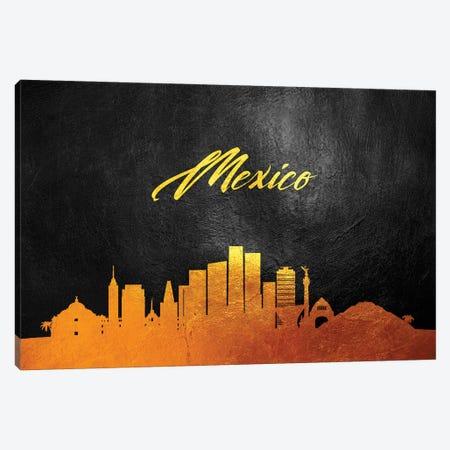 Mexico Gold Skyline Canvas Print #ABV587} by Adrian Baldovino Canvas Print