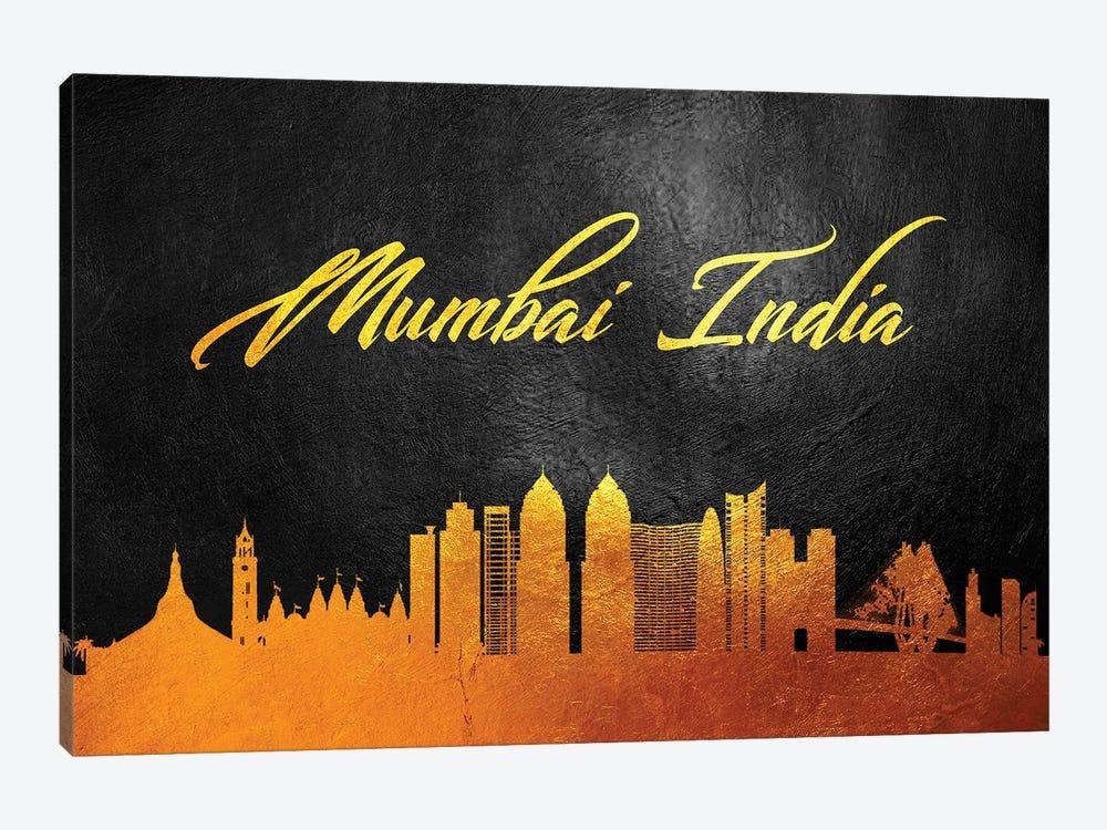 Mumbai India Gold Skyline by Adrian Baldovino 1-piece Canvas Art Print