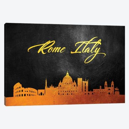 Rome Italy Gold Skyline Canvas Print #ABV618} by Adrian Baldovino Canvas Artwork