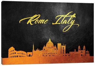 Rome Italy Gold Skyline Canvas Art Print