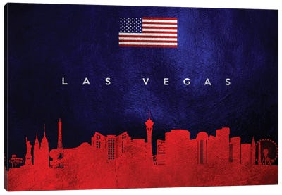 Las Vegas Nevada Skyline Canvas Art Print