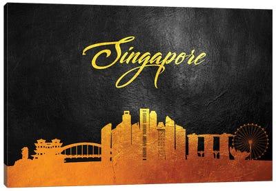 Singapore Gold Skyline Canvas Art Print