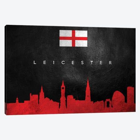 Leicester England Skyline Canvas Print #ABV63} by Adrian Baldovino Canvas Wall Art