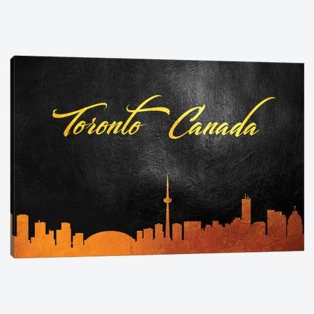 Toronto Canada Gold Skyline Canvas Print #ABV641} by Adrian Baldovino Canvas Art Print