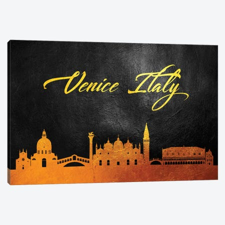 Venice Italy Gold Skyline Canvas Print #ABV647} by Adrian Baldovino Canvas Artwork