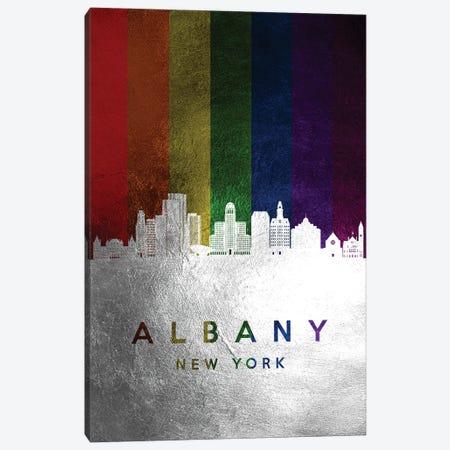Albany New York Spectrum Skyline Canvas Print #ABV654} by Adrian Baldovino Canvas Art Print