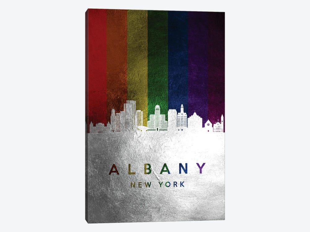 Albany New York Spectrum Skyline by Adrian Baldovino 1-piece Canvas Art Print