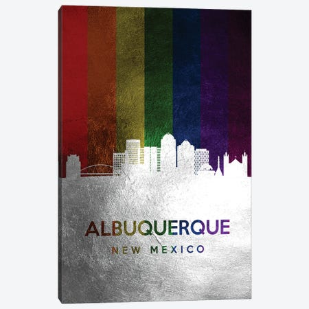 Albuquerque New Mexico Spectrum Skyline Canvas Print #ABV655} by Adrian Baldovino Art Print