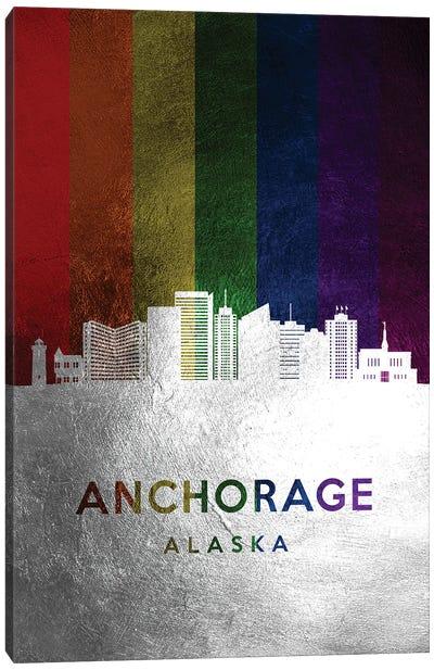 Anchorage Alaska Spectrum Skyline Canvas Art Print