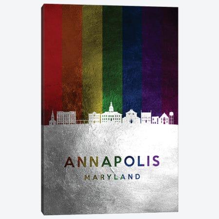 Annapolis Maryland Spectrum Skyline Canvas Print #ABV658} by Adrian Baldovino Canvas Wall Art